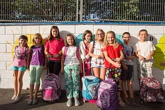 Alumnas de 4º de Primaria de Remontival.