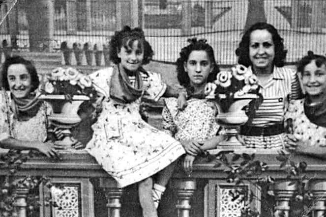 Década de 1940. Hermanas Arruti.