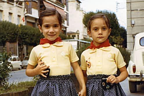 Fiestas de 1973. Margari y Meli Mañeru