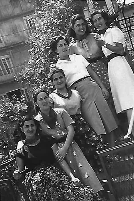 Juli Solano, Mª Jesús Casado, Candi Basterra, Tere García y Visi.