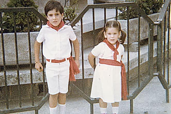 Fiestas de 1981. Sergio San Vicente y Ananka González.