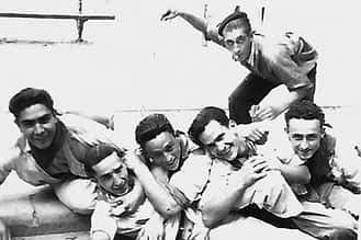 Francisco Cabanés, Julio Echeverría, Miguel Santesteban y Cándido Erdozáin