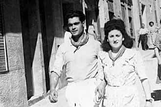 1947. La pareja formada por Ángel Carretero y Concepción Gómez, también en la cuesta