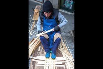 Los artesanos mostraron su trabajo.