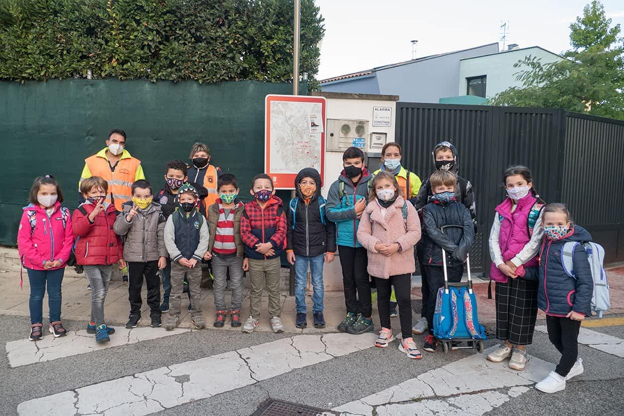 Los Caminos Escolares 'echan a andar' en Estella con paso decidido
