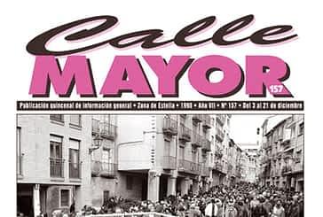 CALLE MAYOR 157 - FERIAS DE ESTELLA. AFLUENCIA DE GENTE… Y DE AGUA