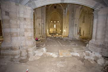 El Monasterio de Irache desveló la cimentación de tres iglesias y restos funerarios