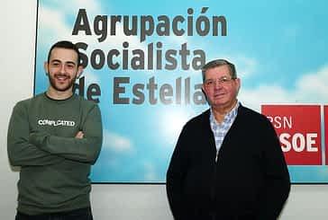 PRIMER PLANO - Jorge Crespo e Ignacio Sanz de Galdeano - Cambio de vara de mando en el PSN de Estella