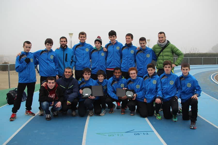 Los Cadetes del C.A. Iranzu, campeones de Navarra por equipos