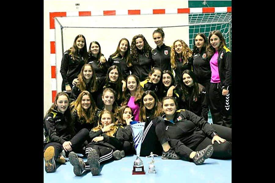 Las juveniles-cadete del BM Lizarreria, campeonas en Ágreda