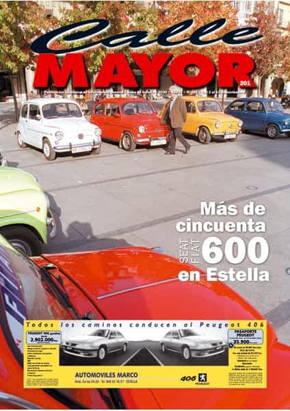 CALLE MAYOR 201 – MÁS DE CINCUENTA SEAT/FIAT 600 EN ESTELLA