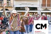 CALLE MAYOR 679 - LOS PERSONAJES DEL CARNAVAL RURAL DANZARON EN ESTELLA