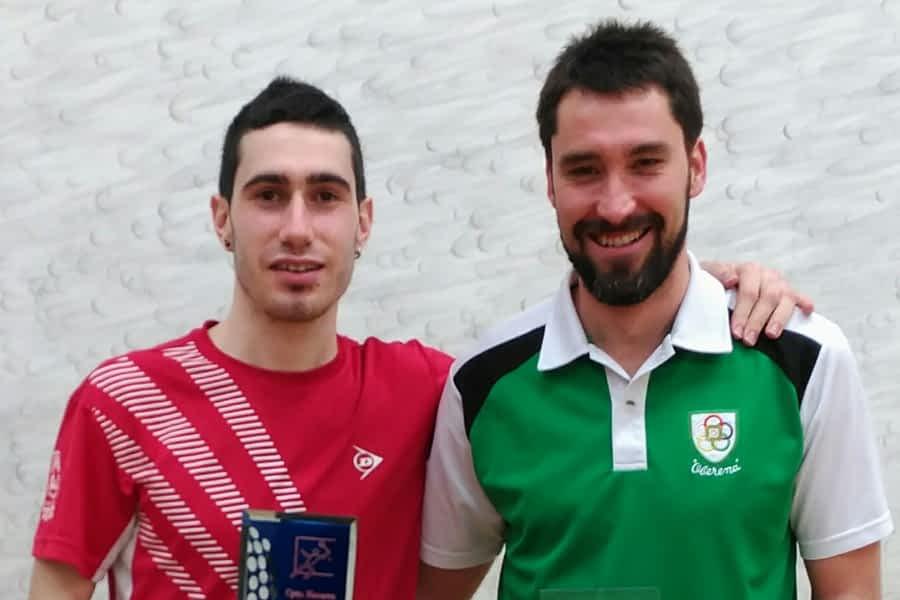 Jokin Esparza, del Estella Squash Club, tercero en el campeonato navarro