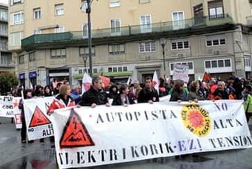 Manifestación en Estella contra la Línea de Alta Tensión