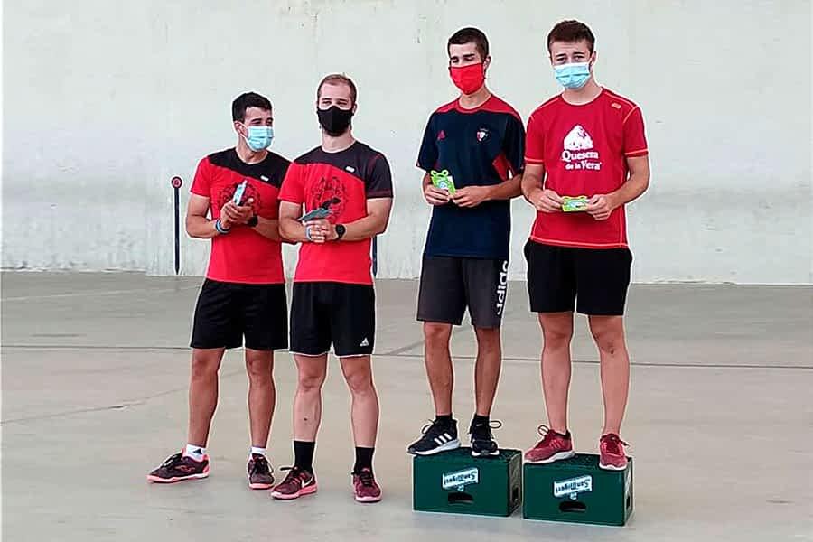 Mendaza y Cantón se alzaron con el Campeonato de Frontenis de Bargota