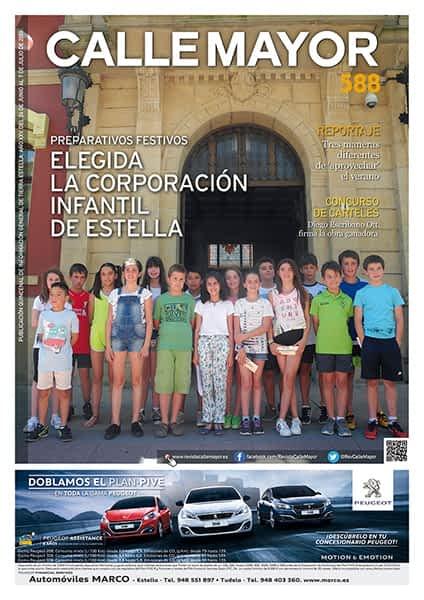CALLE MAYOR 588 - PREPARATIVOS FESTIVOS - ELEGIDA LA CORPORACIÓN INFANTIL DE ESTELLA