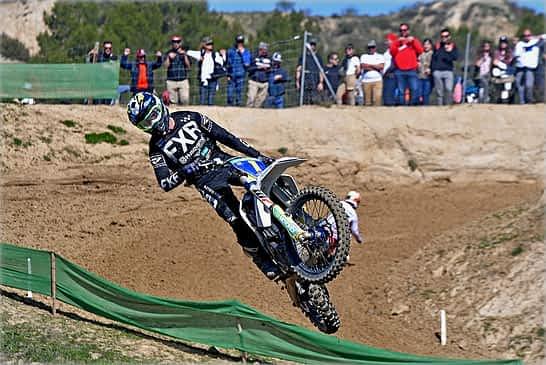 Ander Valentín se mantiene cuarto en el Campeonato de España de motocross