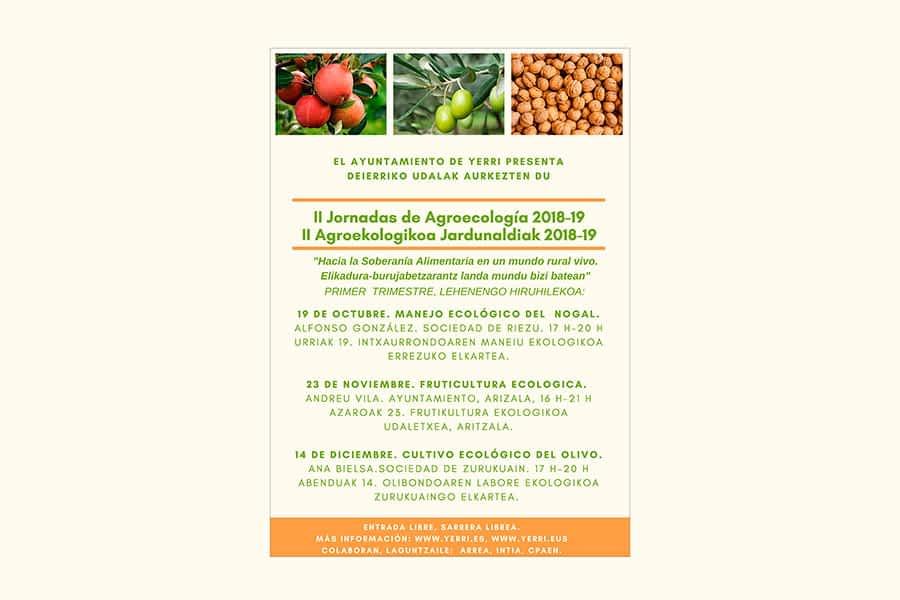 Yerri organiza las II Jornadas de Agroecología