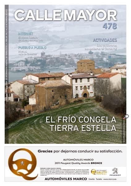 CALLE MAYOR 478 – EL FRÍO CONGELA TIERRA ESTELLA