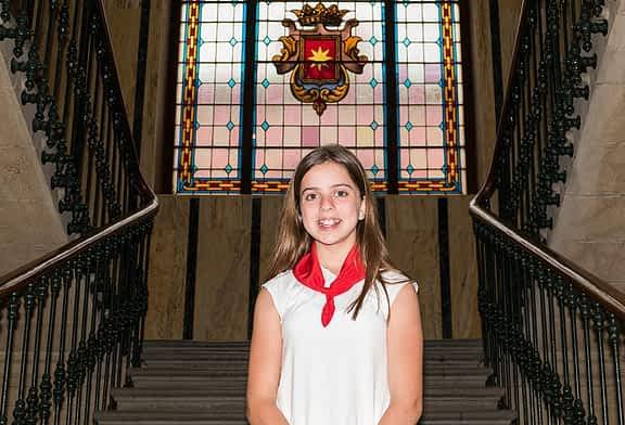 Ayuntamiento txiki - Eva Armendáriz Andueza  - Alcaldesa infantil