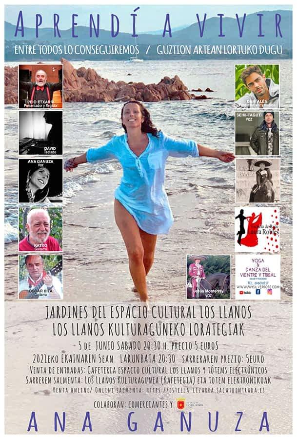 La estellesa Ana Ganuza ofrece, junto a artistas invitados, el concierto 'Aprendí a vivir' el 5 de junio en los jardines de San Benito