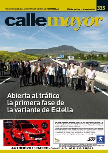 CALLE MAYOR 335 – ABIERTA AL TRÁFICO LA PRIMERA FASE DE LA VARIANTE DE ESTELLA