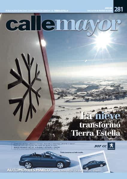 CALLE MAYOR 281 – LA NIEVE TRANSFORMÓ TIERRA ESTELLA