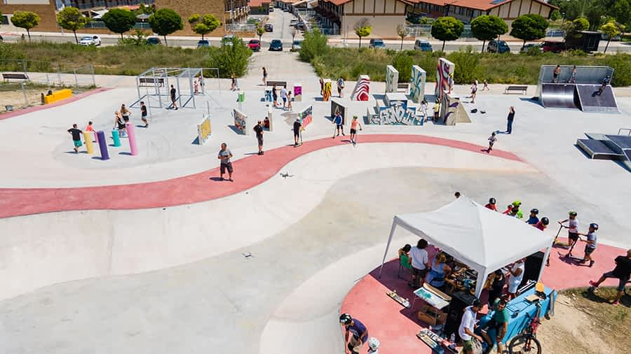 Ayegui, punto de encuentro de skaters