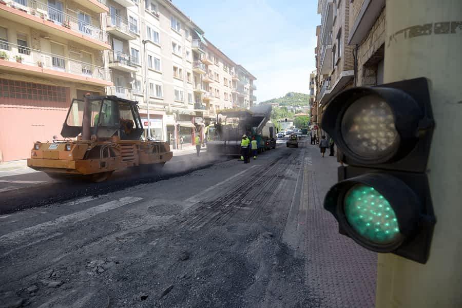 Asfaltado de la calle Fray Diego