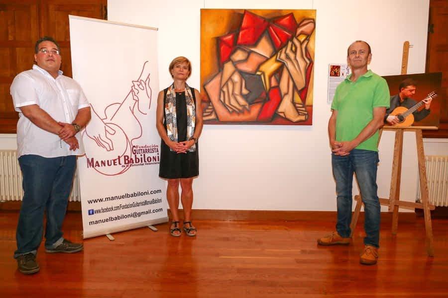 El pintor Jorge Ortiz homenajea al guitarrista Manuel Babiloni