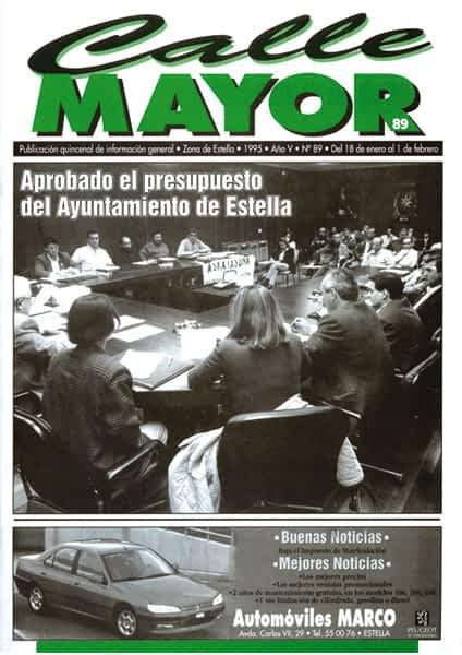 CALLE MAYOR 089 – APROBADO EL PRESUPUESTO DEL AYUNTAMIENTO DE ESTELLA