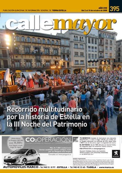CALLE MAYOR 395 – RECORRIDO MULTITUDINARIO POR LA HISTORIA DE ESTELLA EN LA III NOCHE DEL PATRIMONIO