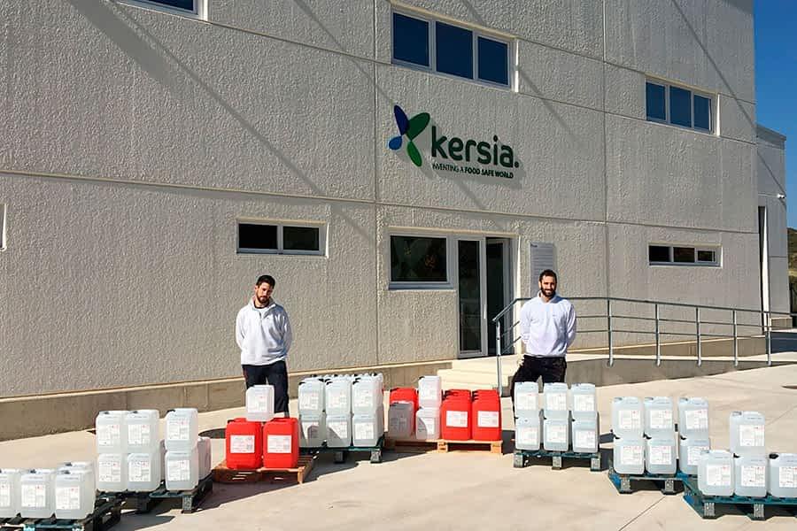 Kersia dona 735 kg de productos de higiene y desinfección