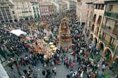 El asado de corderos sustituye a la ternera en la plaza San Martín