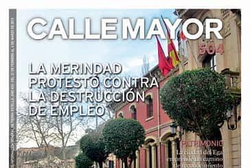 CALLE MAYOR 504 - LA MERINDAD PROTESTÓ CONTRA LA DESTRUCCIÓN DE EMPLEO
