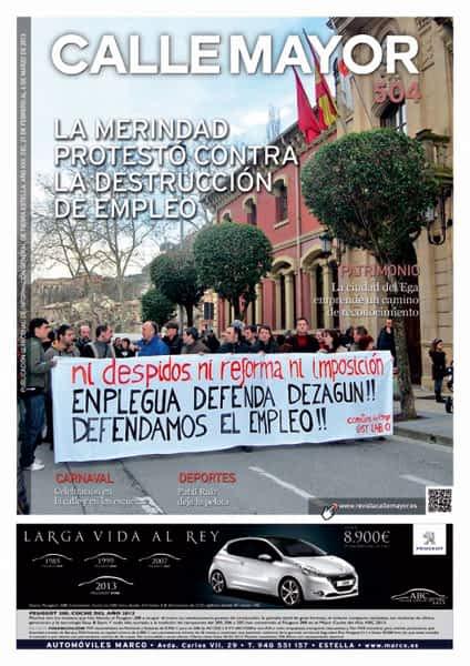 CALLE MAYOR 504 – LA MERINDAD PROTESTÓ CONTRA LA DESTRUCCIÓN DE EMPLEO