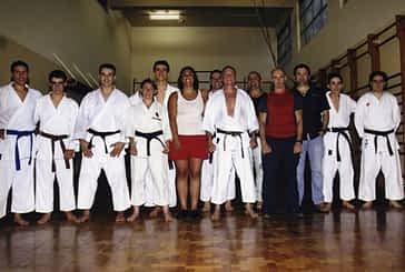 Visita del karateka estellés José Luis Acedo
