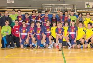 Bm Lizarreria disputó un amistoso con el infantil del Barcelona Interesport