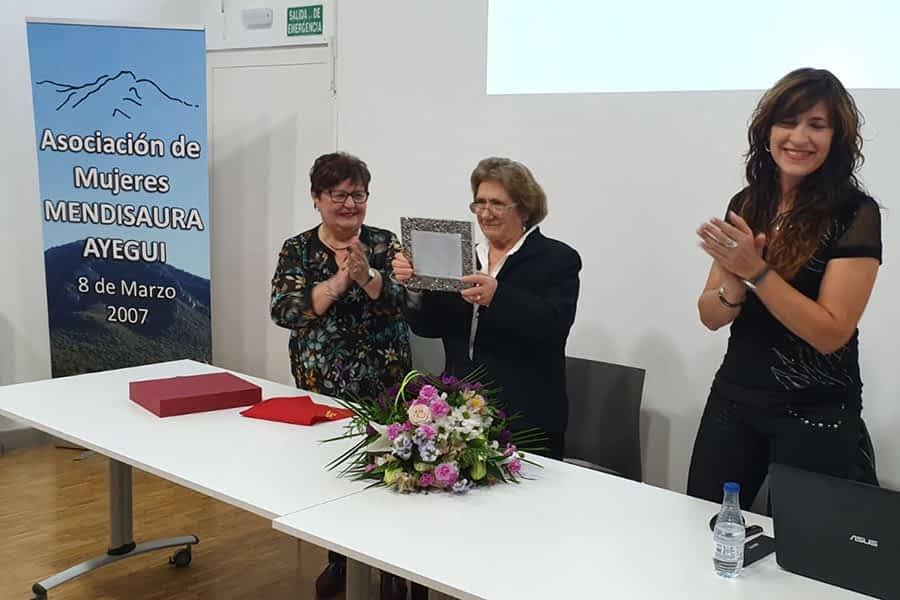 Homenaje a la ayeguina Isabel Pérez de Urabayen