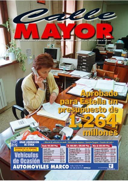 CALLE MAYOR 164 – APROBADO PARA ESTELLA UN PRESUPUESTO DE 1.264 MILLONES