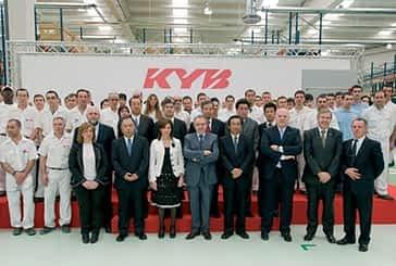 El presidente Sanz inauguró la planta de amortiguadores en Los Arcos