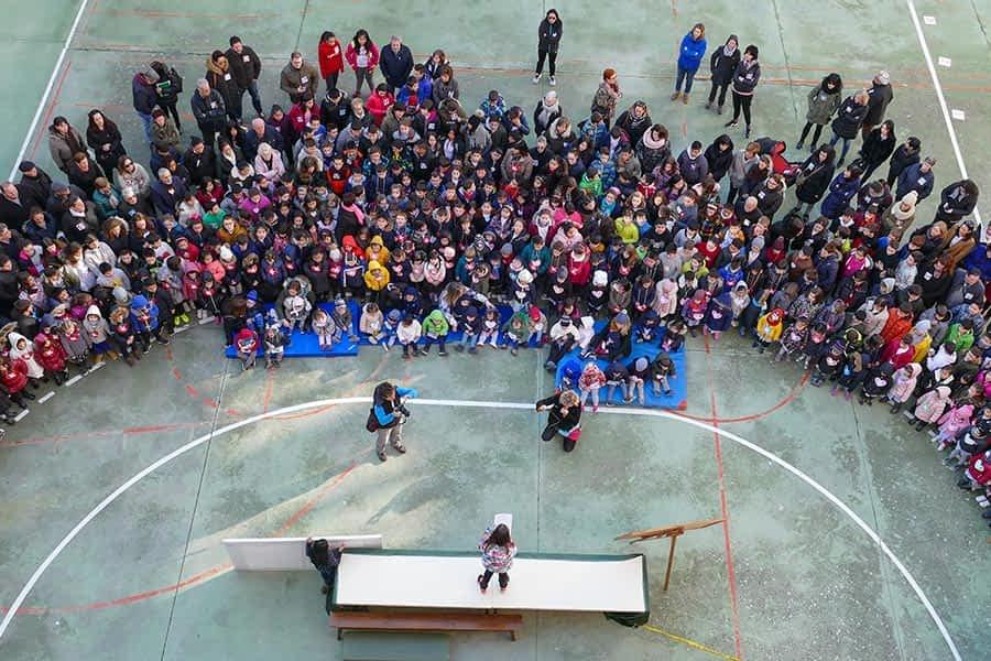 Jornada de paz en los patios escolares
