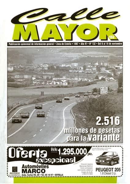 CALLE MAYOR 132 – 2.516 MILLONES DE PESETAS PARA LA VARIANTE
