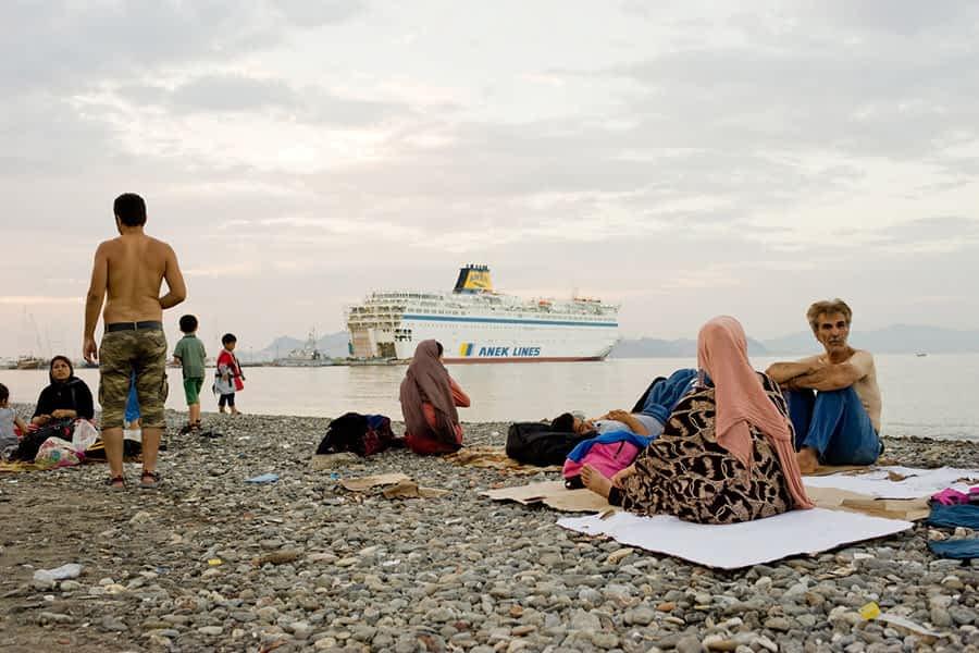 Lizarra Ciudad de Acogida recogió 1.500 kilos de ropa para los campos de refugiados de Grecia