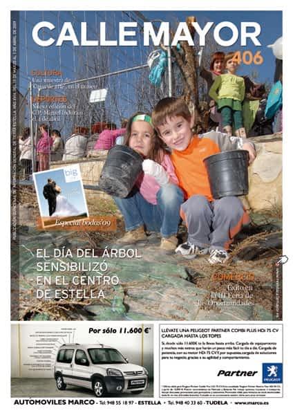 CALLE MAYOR 406 – EL DÍA DEL ÁRBOL SENSIBILIZÓ EN EL CENTRO DE ESTELLA