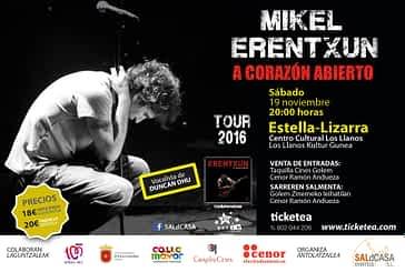 Mikel Erentxun presenta 'A corazón abierto' en Estella-Lizarra