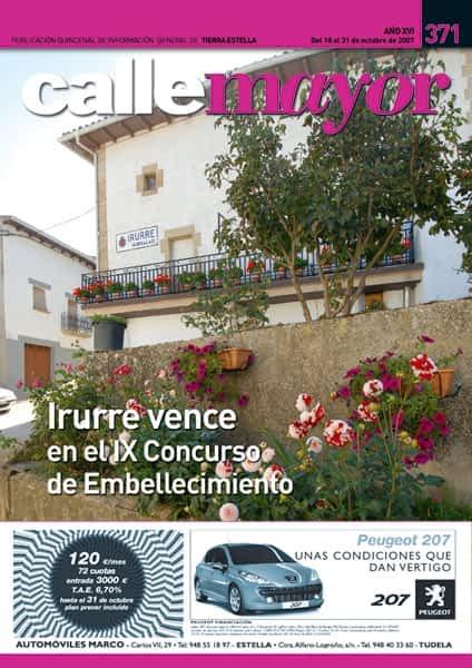 CALLE MAYOR 371 – IRURRE VENCE EN EL IX CONCURSO DE EMBELLECIMIENTO