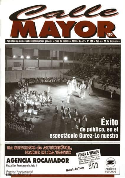 CALLE MAYOR 110 – ÉXITO DE PÚBLICO, EN EL ESPECTÁCULO GUREA-LO NUESTRO