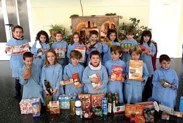 El colegio El Puy recoge 600 kilos de alimentos para Cáritas