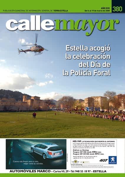 CALLE MAYOR 380 – ESTELLA ACOGIÓ LA CELEBRACIÓN DEL DÍA DE LA POLICÍA FORAL